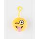 Plush Emoji Wink Keychain Bag Charm