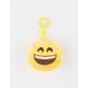 Plush Emoji Smile Keychain Bag Charm