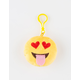 PLUSH EMOJI HEART EYES KEYCHN