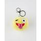 Winking Emoji Pom Keychain Bag Charm