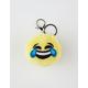 Laughing Emoji Pom Keychain Bag Charm