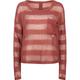 FULL TILT Hachi Stripe Button Back Womens Sweater