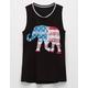 FULL TILT Americana Elephant Girls Tank