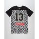 ASPHALT YACHT CLUB Checkerboard Floral Boys T-Shirt