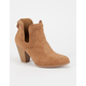 QUPID Whip Stitch Womens Booties