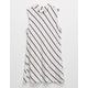 FULL TILT Mock Neck Striped Girls Tee