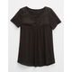 FULL TILT Lace Bow Girls Peasant Top