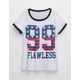 FULL TILT Flawless Americana Girls Ringer Tee