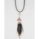 FULL TILT Pyramid Charm Fringe Necklace