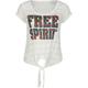 FULL TILT Free Spirit Tie Front Womens Tee