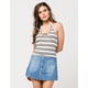 FULL TILT Lace Up Womens Halter Top
