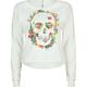 FULL TILT Rose Skull Womens Crop Sweatshirt