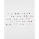 FULL TILT 20 Pairs Wishbone Stone Bird Earrings