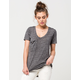 OTHERS FOLLOW Relaxed Fit Womens Pocket Tee