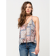 FULL TILT Ditsy Patchwork Womens Tank