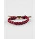 RASTACLAT Miniclat Merlot Shoelace Bracelet