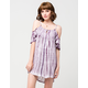 SOCIALITE Cold Shoulder Tie Dye Dress