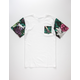 ASPHALT Tie Dye Floral Boys Pocket Tee