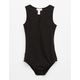 FULL TILT Ribbed Criss Cross Front Girls Bodysuit