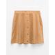FULL TILT Button Front Moleskin Girls Skater Skirt