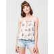 FULL TILT Strappy Floral Womens Tank