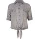 FULL TILT Chambray Tie Front Girls Shirt