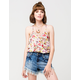 FULL TILT Floral Surplice Womens Tank