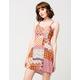 FULL TILT Cutout Patchwork Dress