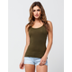 BOZZOLO Solid Racerback Womens Tank