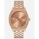 NIXON Time Teller Deluxe Rose Gold Watch