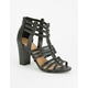 DELICIOUS Strappy Gladiator Womens Heels