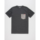 LOST Easy Goes Knit Mens Pocket Tee