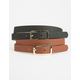 2 Pack Skinny Belts