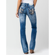 MISS ME Boho Fleur Womens Bootcut Jeans