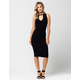 FULL TILT Keyhole Bodycon Midi Dress