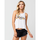 YOUNG & RECKLESS Aloha Script Womens Tank