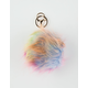 Cotton Candy Pom Keychain Bag Charm