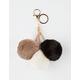 Trio Pom Keychain Bag Charm