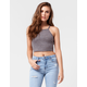 BOZZOLO Cropped High Neck Womens Tank
