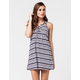 LOVE FIRE Striped Lace Up Dress