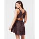 FULL TILT Ditsy Floral Lace Up Dress