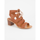 BAMBOO Lace Up Womens Heels