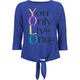 FULL TILT You Only Live Once Girls Tie Front Tee