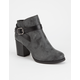 SODA Strappy Heeled Womens Booties