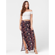 FULL TILT Tie Waist Mix Print Maxi Skirt