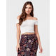 FULL TILT Smock Off The Shoulder Womens Top