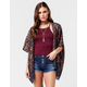 ANGIE Floral Georgette Crochet Womens Kimono