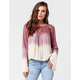 PATRONS OF PEACE Ombre Womens Top