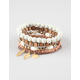 FULL TILT 5 Piece Wood Friendship Bracelets