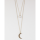 FULL TILT 2 Layer Moon/Rhinestone Necklace